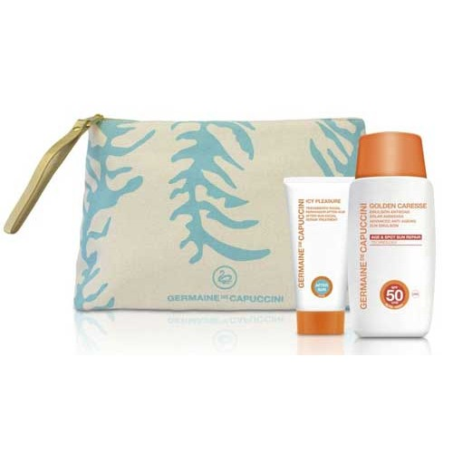 Suntan cream SPF 50 gift bag